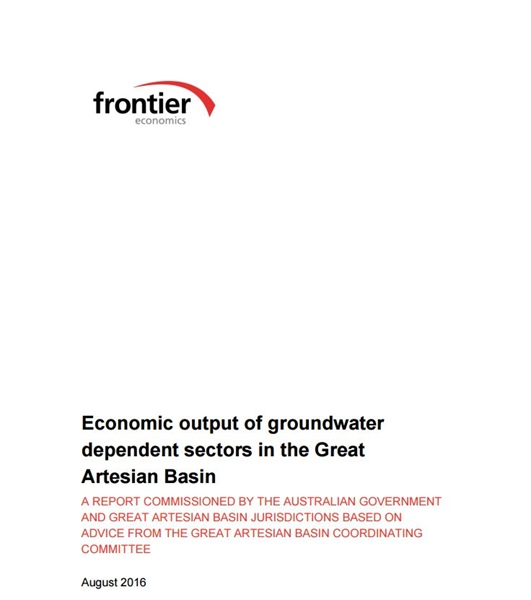 Economic output of groundwater dependent sectors in the Great Artesian Basin